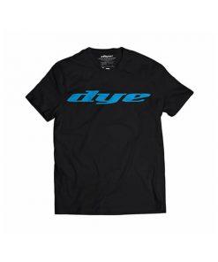camiseta-t-shirt-dye-logo-black-cyan-paintball-store-paintball-online-paintballonline-loja-de-paintball