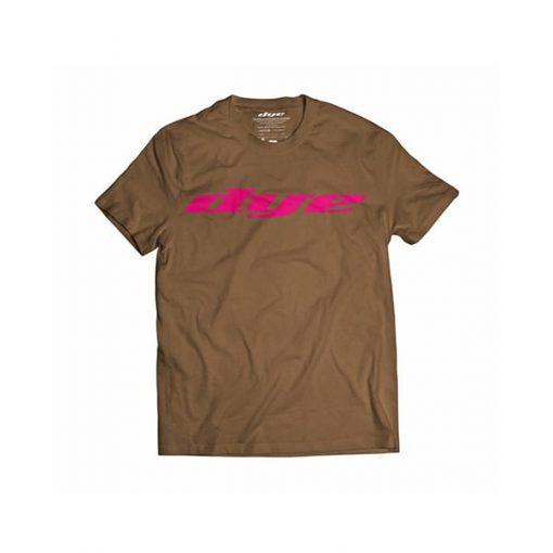 camiseta-t-shirt-dye-logo-brown-pink-paintball-store-paintball-online-paintballonline-loja-de-paintball